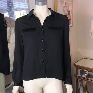 Chord Button Up Blouse